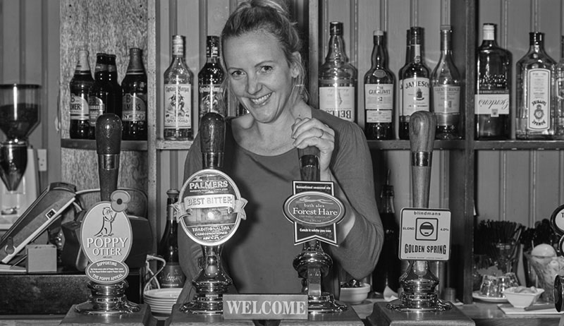 Front of House - Kate behind the bar